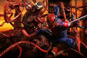 Spiderman And Carnage Artwork 4k