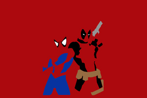Spiderman And Deadpool Minimalism
