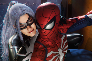 Spiderman And Felicia Hardy In Spiderman Ps4