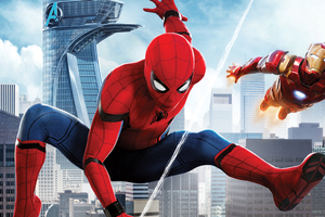 Spiderman And Iron Man 4k