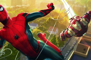 Spiderman And Iron Man Artwork