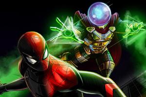 Spiderman And Mysterio Artwork
