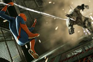 Spiderman And Rhino