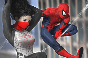 Spiderman And Silk