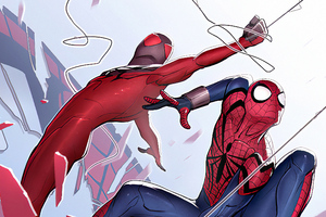 Spiderman And Spiderman 2099 Art