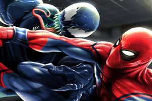 Spiderman And Venom Art