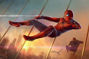 Spiderman Artwork HD Wallpaper