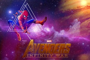 Spiderman Avengers Infinity War Artwork