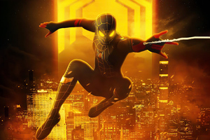 Spiderman Black And Gold Suit Look 5k Wallpaper