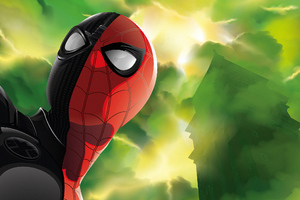 Spiderman Black Red