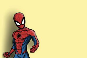 Spiderman Cartoonic Art Wallpaper