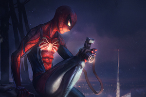 Spiderman Clicking Pictures Art