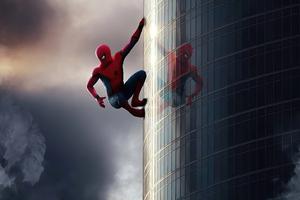 Spiderman Climbing Wall Wallpaper