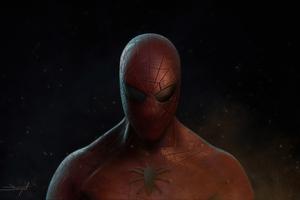 Spiderman Closeup 4k Artwork Wallpaper