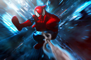 Spiderman Coming Art Wallpaper