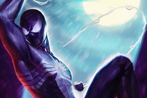 Spiderman Dark Night Wallpaper