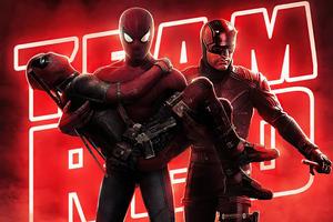 Spiderman Deadpool X Daredevil 4k