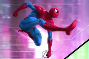 Spiderman Digital Illustration 5k Wallpaper