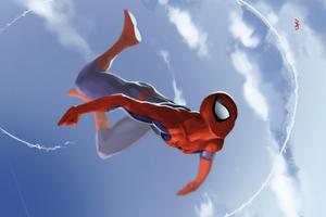 Spiderman Falling 4k