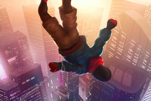 Spiderman Falling Wallpaper