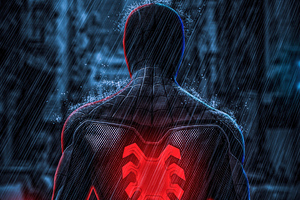 Spiderman Far From Home Back View 5k