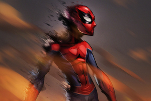 Spiderman Flame Art