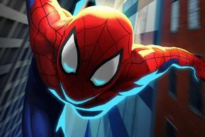 Spiderman Going Wallpaper