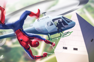 Spiderman Homecoming Fan Art 4k