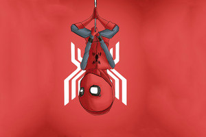 Spiderman Homecoming Homemade Suit Minimal 4k Wallpaper
