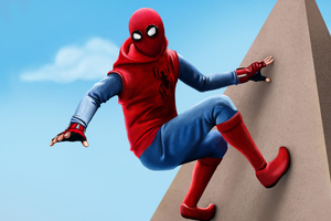 Spiderman Homecoming Suit Homemade Artwork Wallpaper