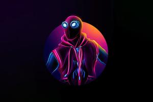 Spiderman Homemade Suit Neon 5k