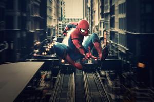 Spiderman In Action 4k Wallpaper