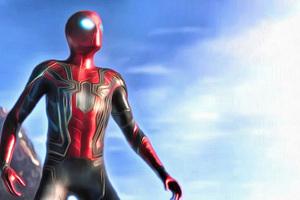 Spiderman In Avengers Infinity War 2018 4K Artwork