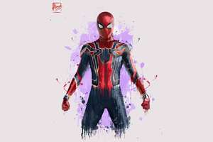 Spiderman In Avengers Infinity War 2018 Artwork
