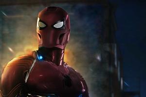 Spiderman In Iron Suit