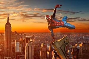 Spiderman In New York City Wallpaper