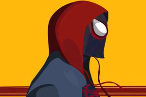 Spiderman In Spider Verse Minimal Digital Art 4k Wallpaper