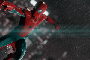 Spiderman In The Rain