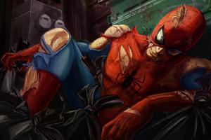 Spiderman Injured Art