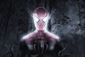 Spiderman Inside Venom Wallpaper