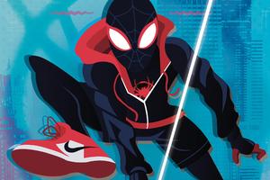 SpiderMan Into Spider Verse New Art 4k