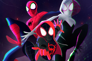 SpiderMan Into The Spider Verse 2018 Art