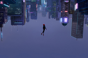 SpiderMan Into The Spider Verse 2018 Movie Wallpaper