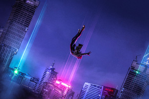 SpiderMan Into The Spider Verse Art Wallpaper
