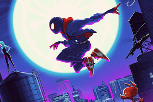 SpiderMan Into The Spider Verse Cool Art