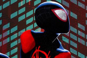 SpiderMan Into The Spider Verse Movie 2018 4k Poster Wallpaper