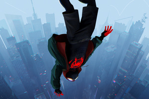 SpiderMan Into The Spider Verse Movie 2018 8k Wallpaper