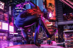 SpiderMan Into The Spider Verse Movie 4k Art