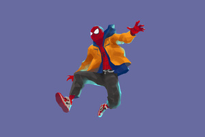 SpiderMan Into The Spider Verse Movie 4k Artwork Wallpaper