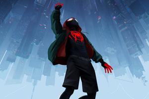 SpiderMan Into The Spider Verse Movie 5k Wallpaper